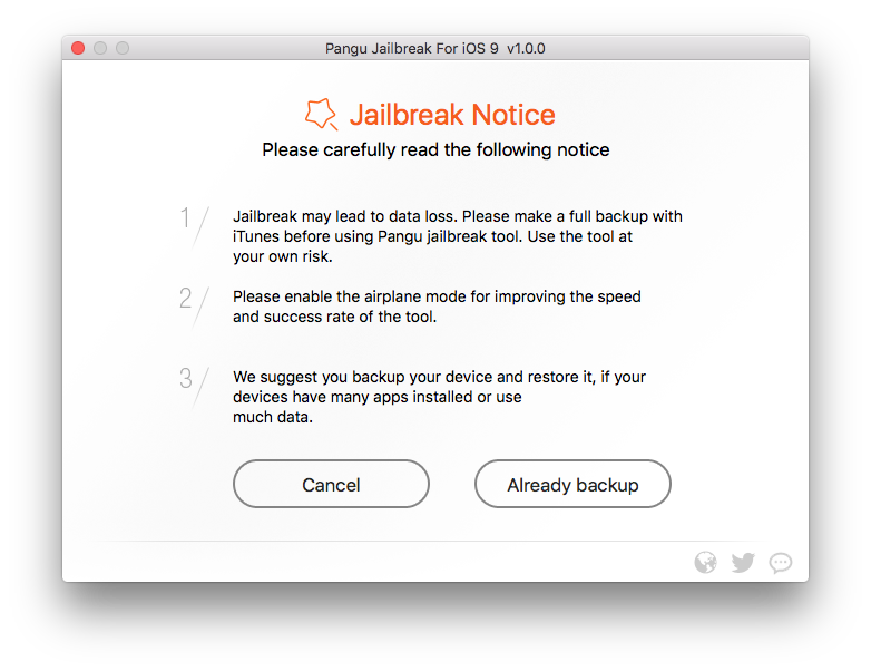 jailbreak ios9 backup