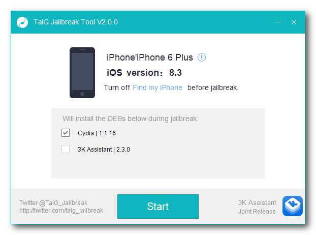 TaiG Jailbreak for iOS 8.3 and iOS 8.4